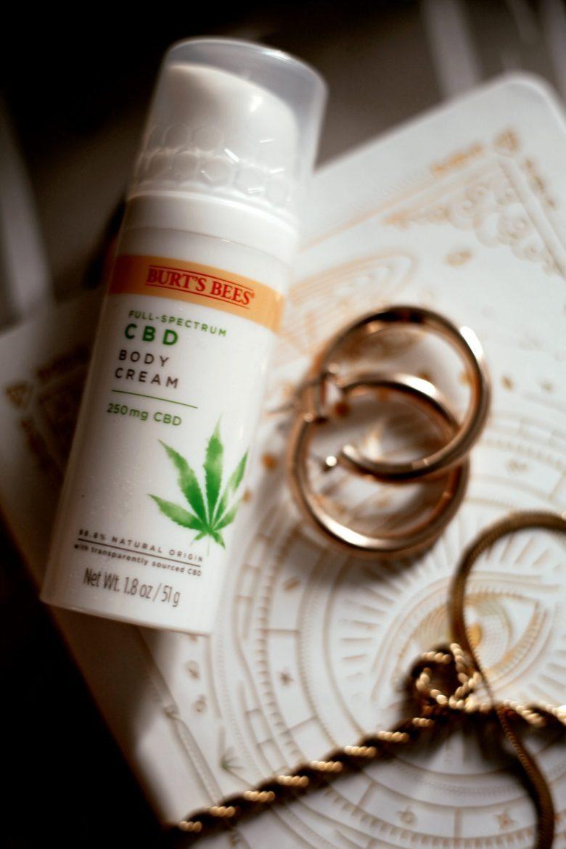 Burts Bees CBD Skincare by popular San Francisco beauty blog, Sylvie in the Sky: image of Burts Bees CBD body cream.
