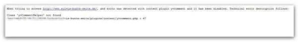 Fehlermeldung nach Joomla Update
