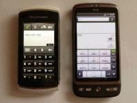 Bild - Vergleich Textfeld Vivaz Pro mit HTC Desire