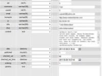 Eintrag in Datenbank Phoca Guestbook