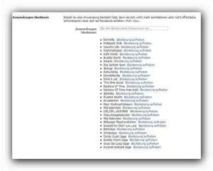 Liste mit blockierten Anwendungen