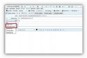 In Thunderbird E-Mail an mehrere Empfänger versenden