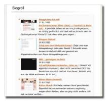 Blogrollanzeige per Thumbshots-Server