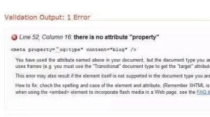 Validierungsfehler meta property