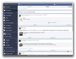 Darstellung Facebook in Social Lite