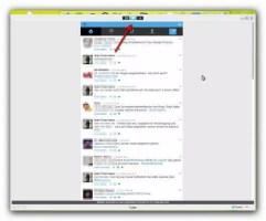 Darstellung Twitter in Social LIte
