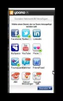 verfügbare Social Media-Dienste bei Yonoo
