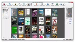 Calibre Benutzeroberfläche bei angeschlossenem eBook