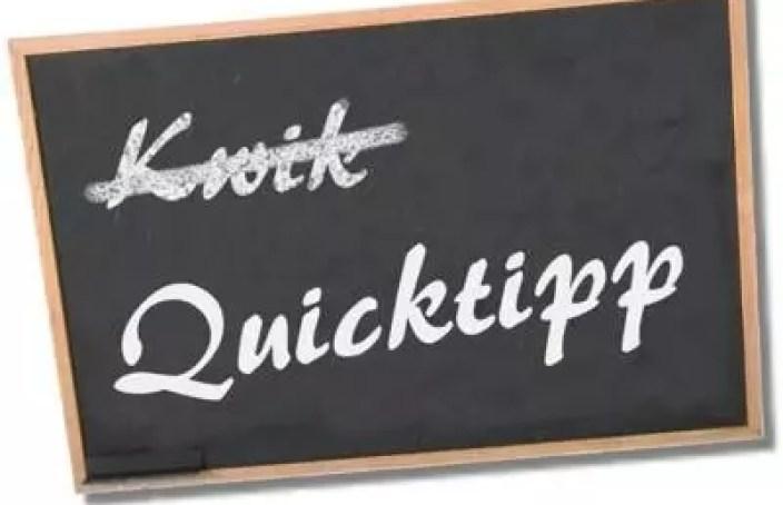 Quicktipp