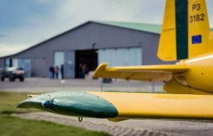 Blick auf den Hangar