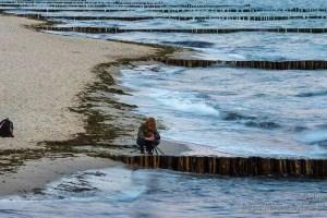 Rollei-Stativ Ci5 Carbon dem Meer ausgesetzt