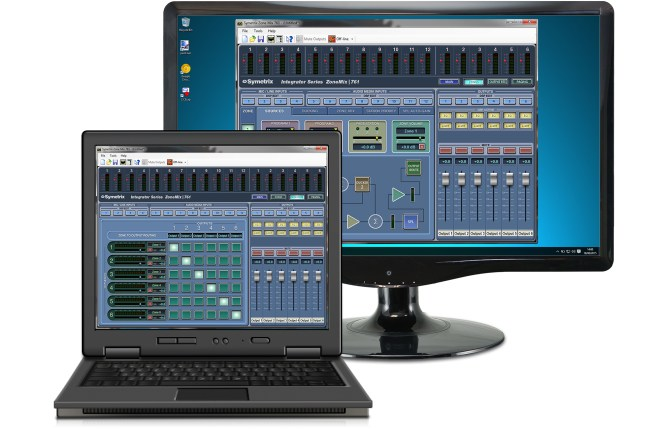 Zone Mix 761 Software on Laptop and Monitor