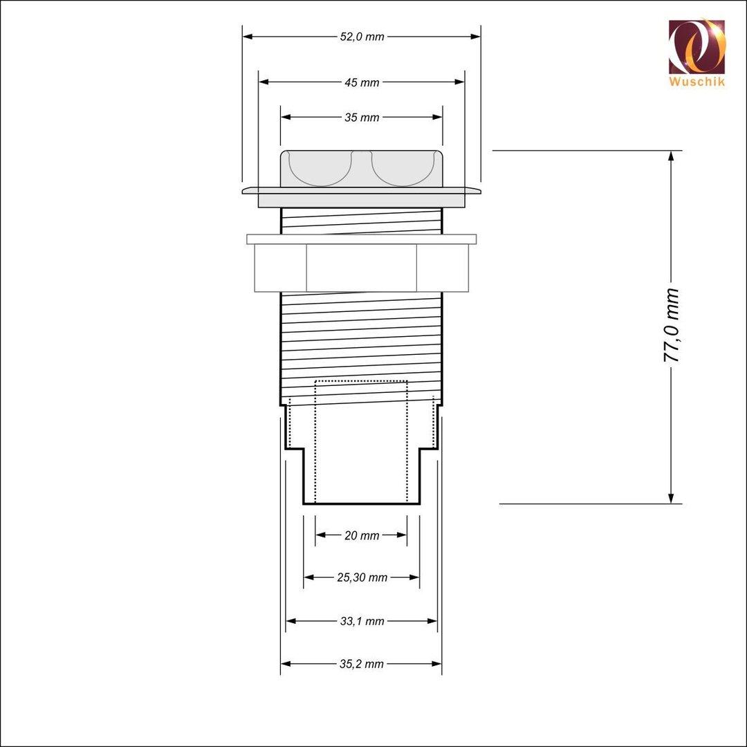 Air Control Valve Whirlpool Spare Part 50 Mm Flat Design Jacuzzi