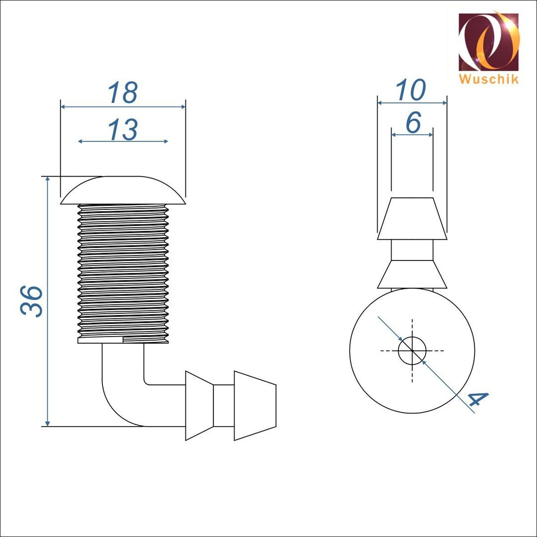 10 X Whirlpool Bodenduse 18 Mm Schlauchanschluss 13 Mm Airjet
