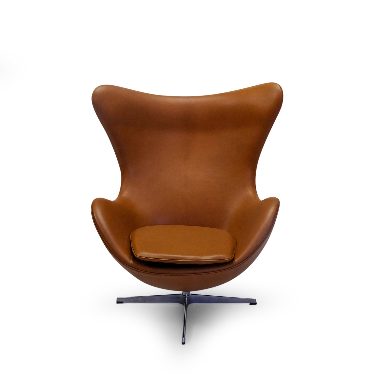 Egg Chair Cognac.Arne Jacobsen Egg Chair Elegance Leather Symple Design