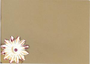 Floral bday envelope