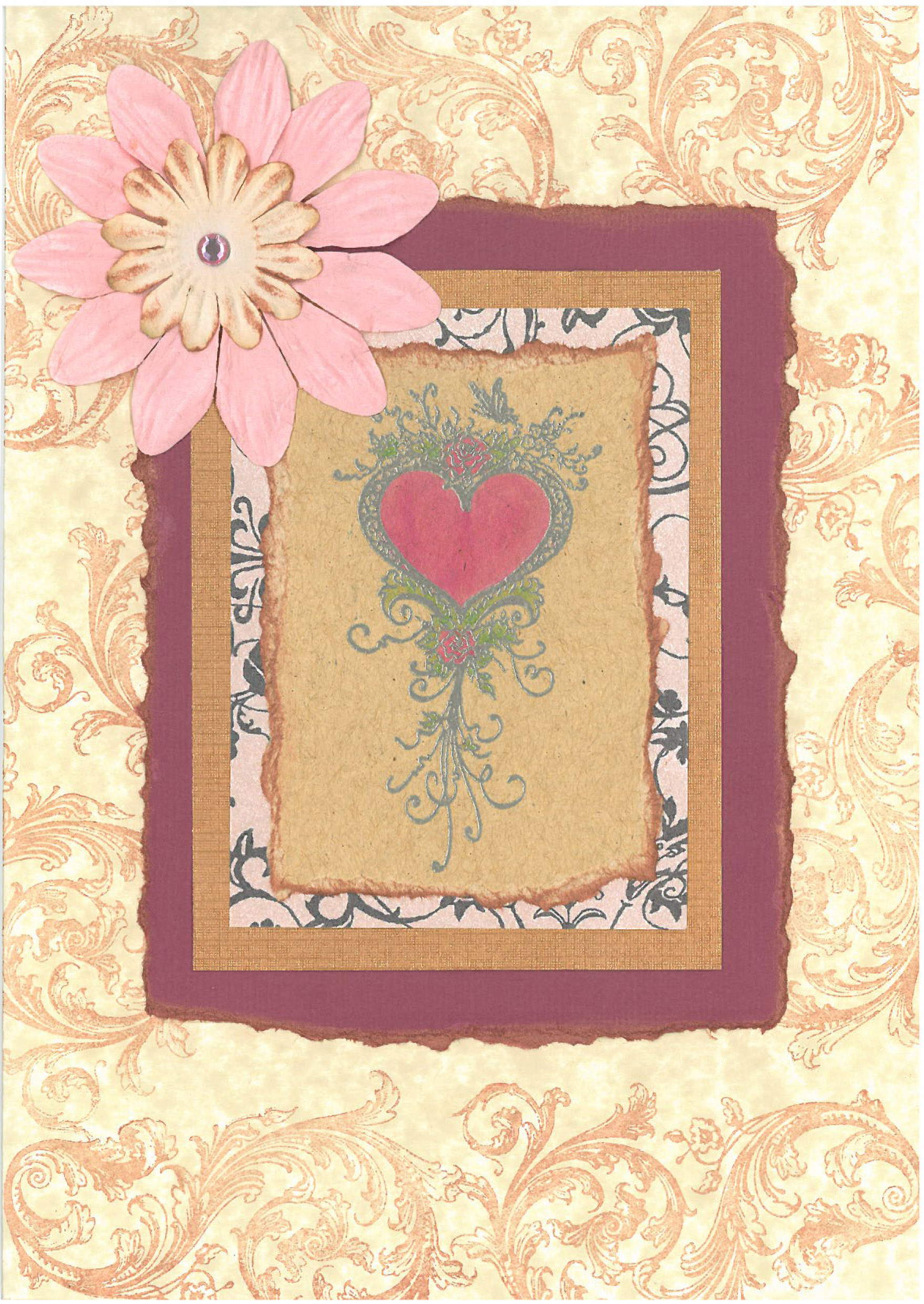 Baroque flowers card