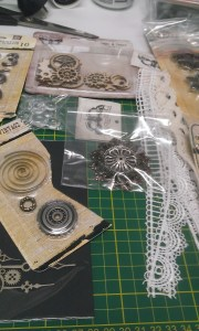 Embellishments - close up 2 (lace and cogs)