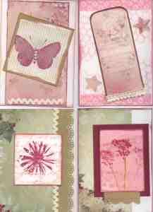 Cardmaking frenzy day 1 - Romantic Garden theme from Meg's Garden  (C6)