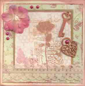 Shabby chic engagement card