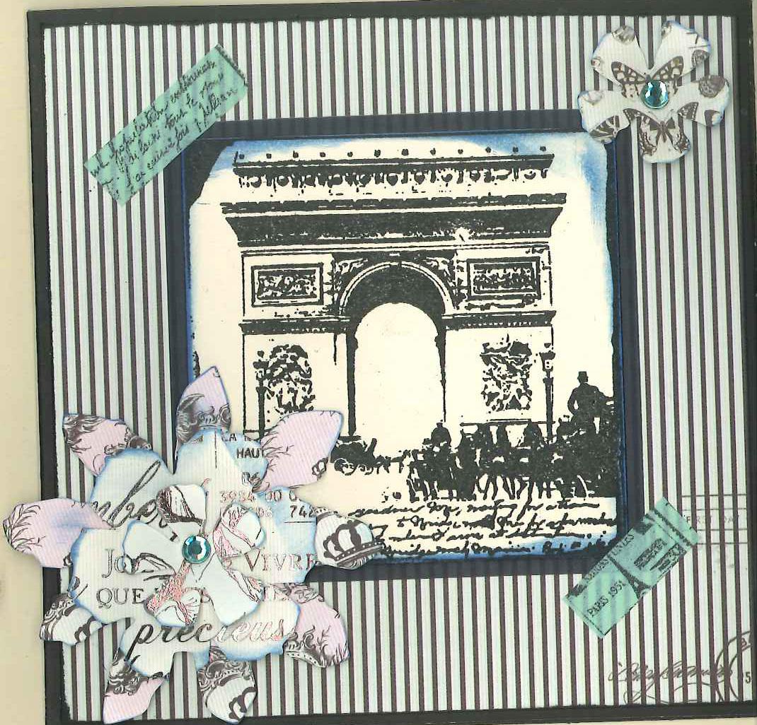 Parisian farewell card