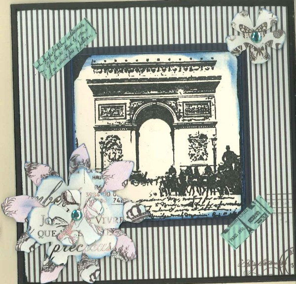 Parisian farewell card