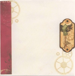 Steampunk debutante birthday - envelope