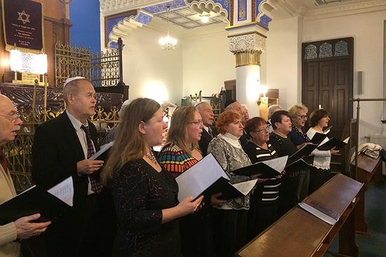 Treffen mit der Jüdischen Gemeinde von Leipzig in der Synagoge