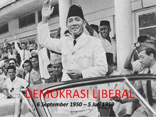 perkembangan ekonomi, politik, dan sosisal pada masa demokrasi liberal