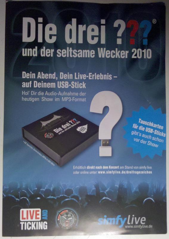 Die Drei Fragezeichen Live in Berlin 2010 - MP3 Stick im ???-Design