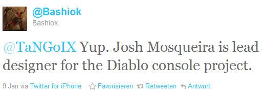 """Micah Whipple """"Bashiok"""" auf Twitter zur Konsolenversion von Diablo 3"""