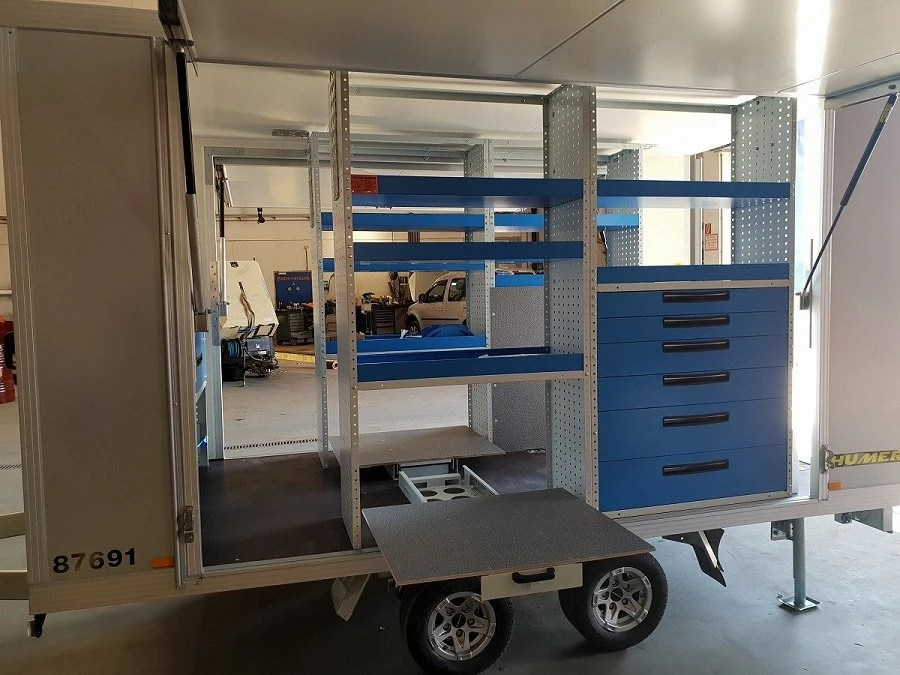 Syncro System For A Professional Workshop On Wheels