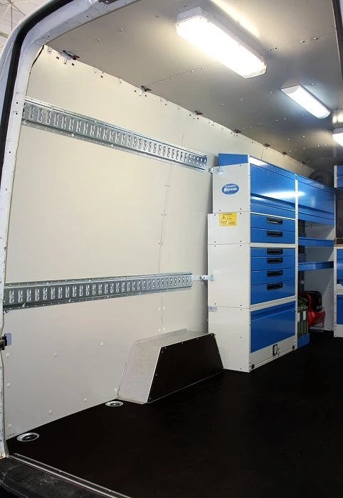 Upfit Of The Volkswagen Crafter With Worktops And Shelving