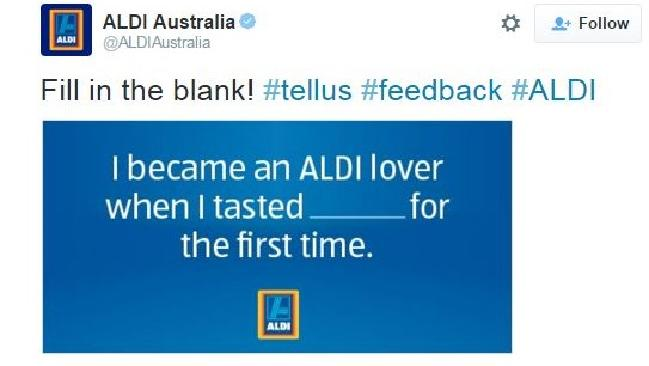 Aldi - not thinking about the context of their social media content