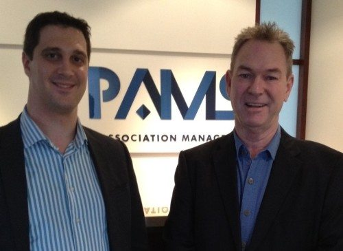 Alex with Richard, the Managing Director of PAMS