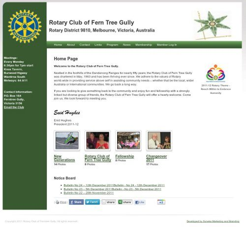 The Rotary Club of Fern Tree Gully Website