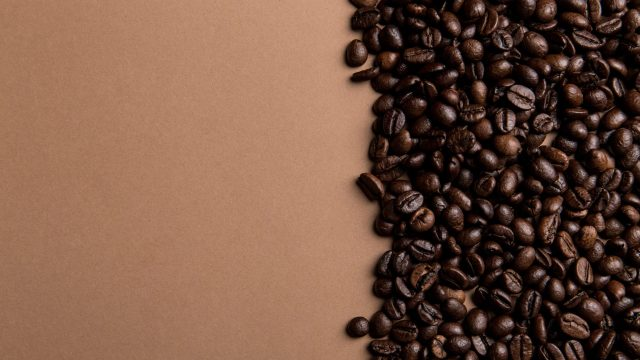 Caffeine coffee beans roasted