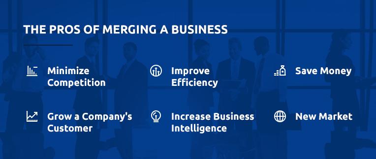 Pros of Merging a business breakdown.