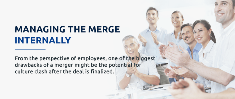 Ways to manage merging a business internally pull out quote.