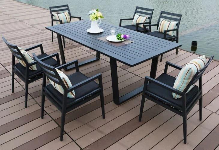 china aluminium outdoor dining sets