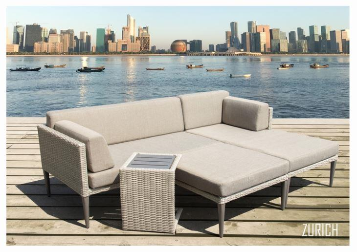patio furniture sofa set rattan l shape