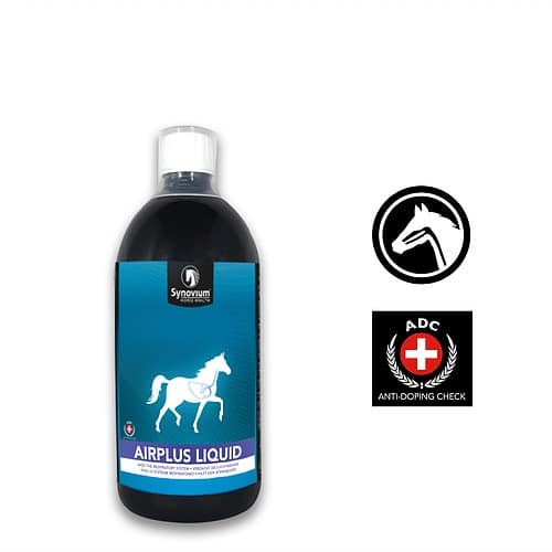 Synovium Airplus Liquid for COPD in horses and horse coughing