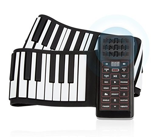 d8fdb308a90 JouerNow RUP002 88 Thickened-Keys Roll Up Piano Synthesizer  Electronic Flexible  Silicone Keyboard Hand-rolling Piano with Battery-sustained Pedal