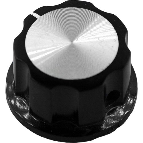 /& DIY Projects Mini Fluted Knob with White Indicator Guitars Black for Pedals