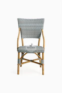 Sidney Dining Bistro Chair-front |Sidney bistro chair | Sidney rattan chair | Sidney rattan dining chair | Sidney rattan bistro chair | Sidney dining arm chair