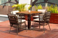 Zamira Dining Set | Zamira Rope Dining Set | Zamira Outdoor Dining Set | Zamira Outdoor Furniture Dining | Zamira Outdoor Wicker Furniture