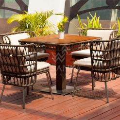 Zamira Dining Set | Zamira Rope Dining Set | Zamira Outdoor Dining Set | Zamira Outdoor Furniture Dining | Zamira Outdoor Wicker Furniture