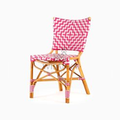 Carla Natural Rattan Dining Bistro Chair perspective