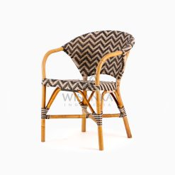 Dean Dining Arm Rattan Bistro Chair Perspective