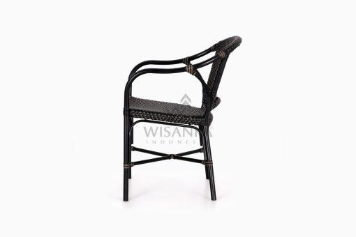 Edward Dining Arm Rattan Bistro Chair Side